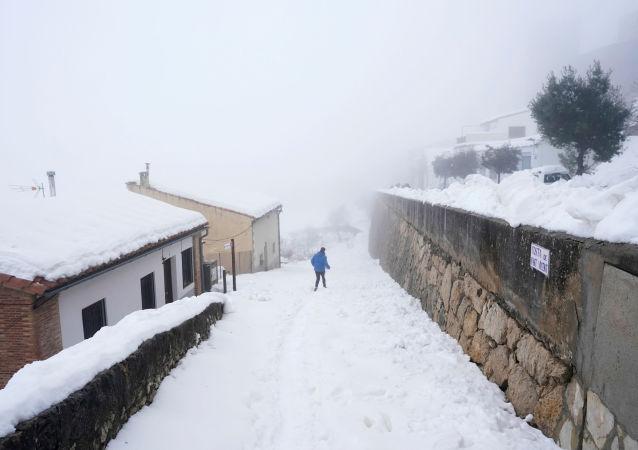 Fuerte nevada en España
