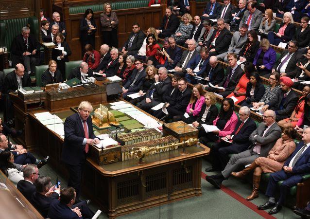 Boris Johnson, el primer ministro británico, en el Parlamento del Reino Unido