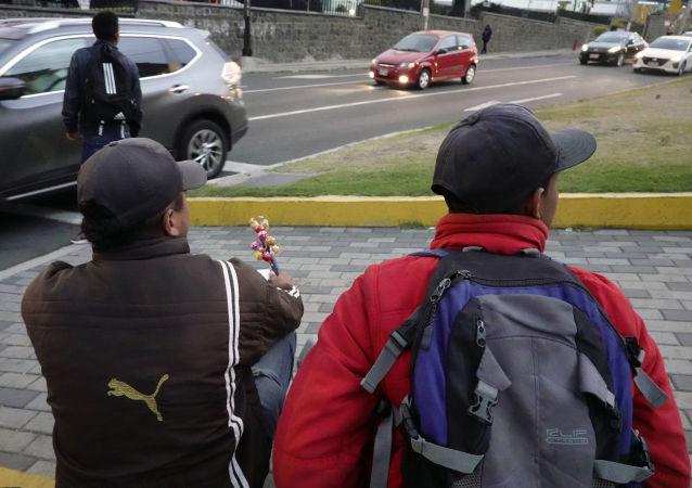 Migrantes venezolanos en Quito, Ecuador