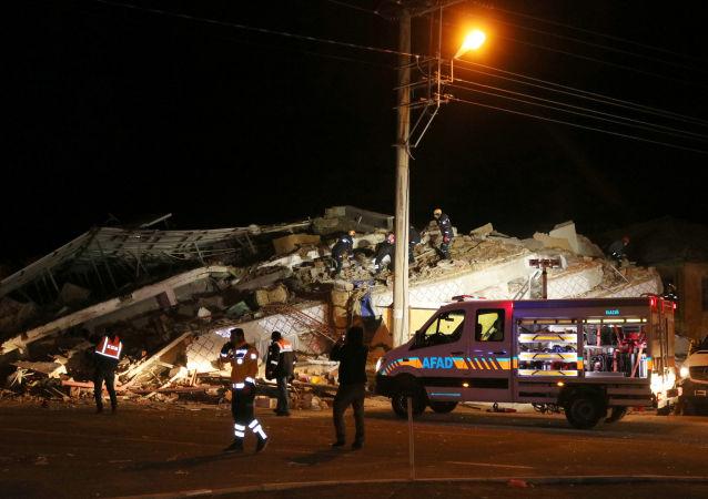 Lugar del terremoto en Elazig, Turquía