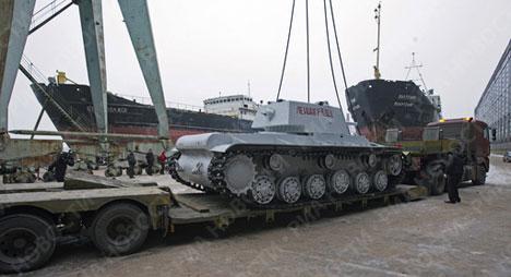 """""""Tanque blanco"""" KV-1 en San Petersburgo"""