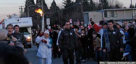 El relevo de la antorcha olímpica en Canadá visto por internautas