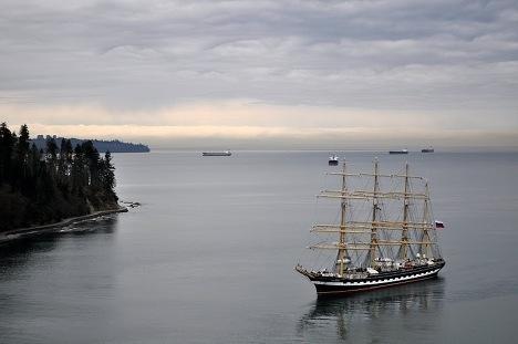 La llegada del buque Kruzenstern a Vancouver
