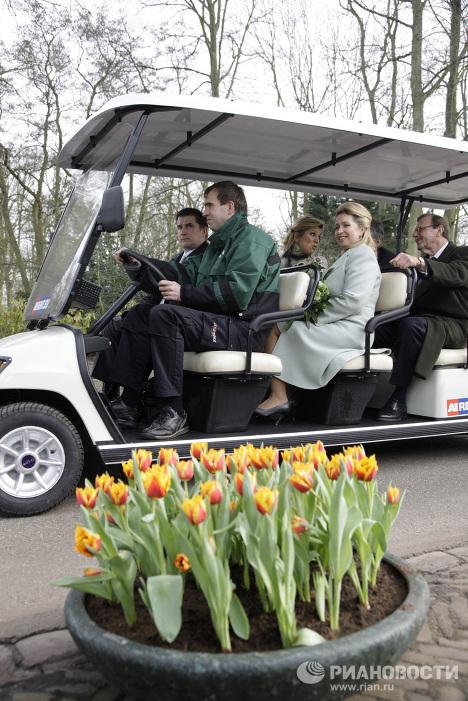 Primera dama de Rusia visita maravilloso parque en Holanda