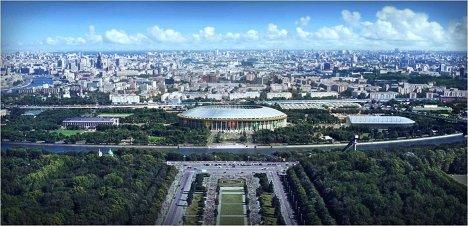 Макет стадиона для проведения ЧМ-2018/2022 по футболу в Лужниках, Москва