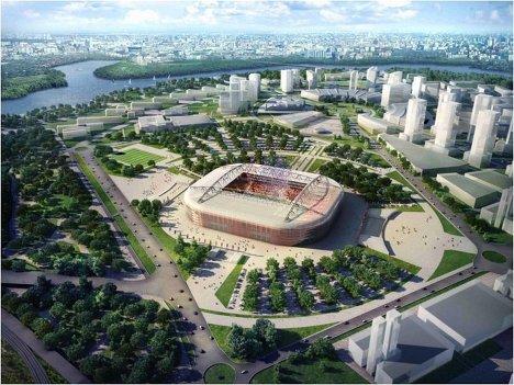 Макет стадиона Спартака для проведения ЧМ-2018/2022 по футболу, Москва