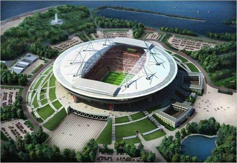 Макет стадиона для проведения ЧМ-2018/2022 по футболу в Санкт-Петербурге