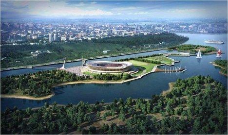 Макет стадиона для проведения ЧМ-2018/2022 по футболу в Нижнем Новгороде