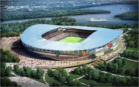 Макет стадиона для проведения ЧМ-2018/2022 по футболу в Казани