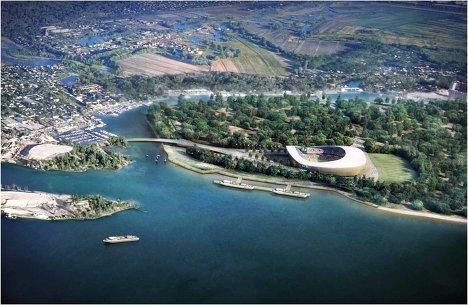 Макет стадиона для проведения ЧМ-2018/2022 по футболу в Самаре