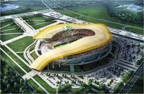 Макет стадиона для проведения ЧМ-2018/2022 по футболу в Ростове-на-Дону