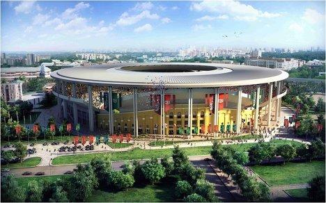 Макет стадиона для проведения ЧМ-2018/2022 по футболу в Екатеринбурге