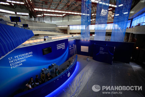 Preparativos para el Foro Internacional Económico de San Petersburgo