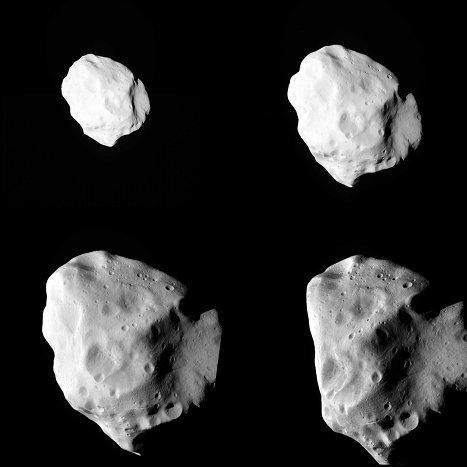 Foto del asteroide Lutetia en el momento del máximo acercamiento