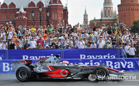 Bavaria Moscow City Racing en pleno centro de Moscú
