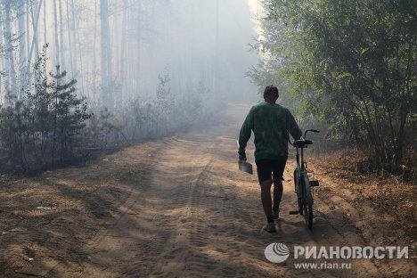 Rusia combate incendios forestales