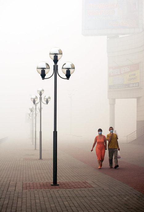 El calor y el humo estropean el fin de semana de los moscovitas
