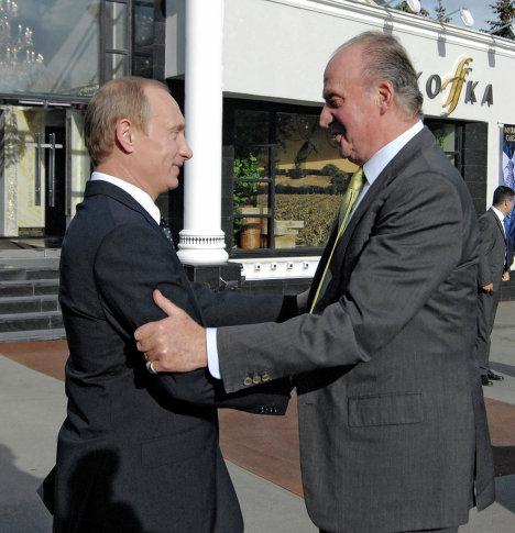 Vladimir Putin and Juan Carlos I