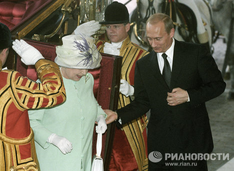 Елизавета Вторая и Путин