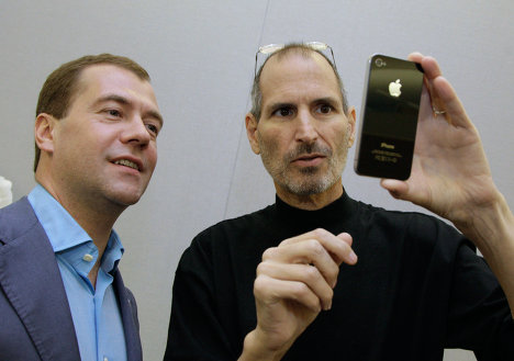 Las tabletas, los móviles y las cámaras del presidente Dmitri Medvédev