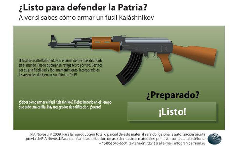 Y tu ¿podrás armar con rapidez fusil Kalashnikov? - Sputnik Mundo