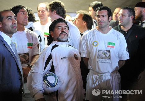 Диего Марадона и Луиш Фигу