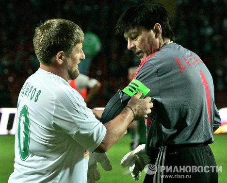 Матч между командой Кавказ и сборной звезд мирового футбола