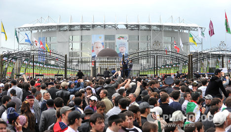 Открытие спорткомплекса им. Ахмат-Хаджи Кадырова в Грозном