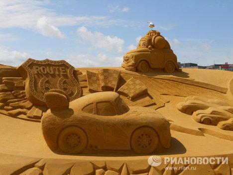 Festival de esculturas de arena en la ciudad belga de Blankenberge