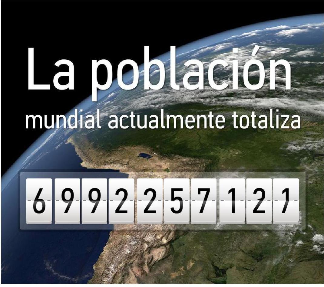 Contador de la Población Mundial