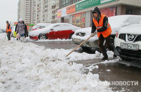 Апрельский снегопад в Москве