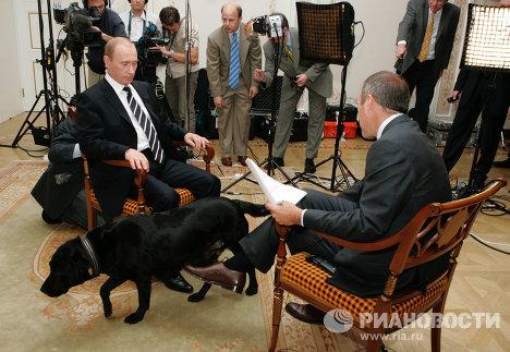 Президент России Владимир Путин и ведущий программы «Тудей» Метт Лауэр