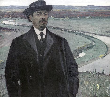 Репродукция картины М. В. Нестерова Автопортрет