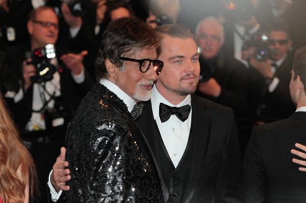 Амитабх Баччан и Леонардо Ди Каприо на открытии 66-го кинофестиваля в Каннах