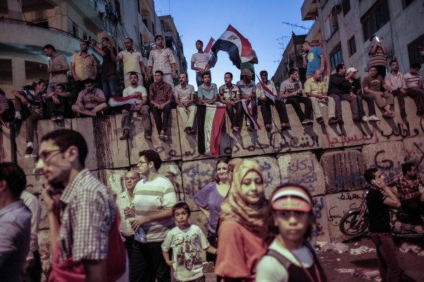 Митингующие на площади Тахрир в Каире