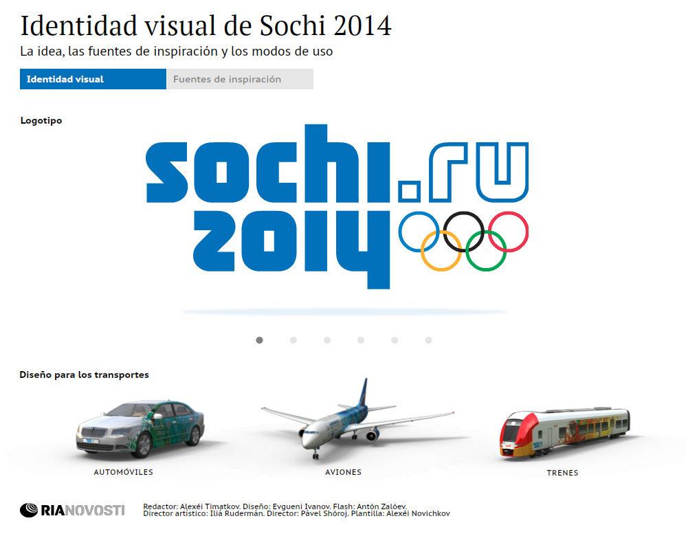 Los elementos visuales de Sochi 2014