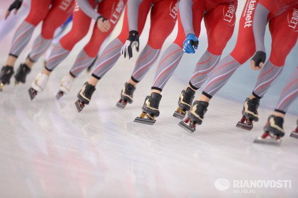 Конькобежный спорт. Чемпионат мира. Тренировки