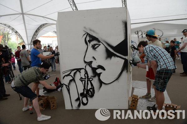 Фестиваль граффити Спасибо деду за победу