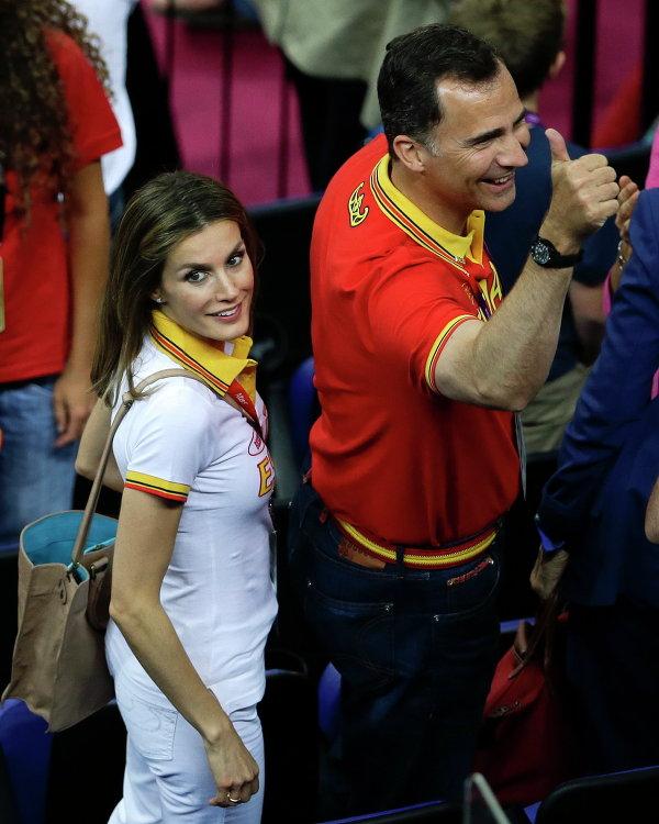 Принц Фелипе и его жена принцесса Летиция на Олимпийских играх в Лондоне, 2012