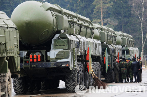 Le missile intercontinental mobile russe Topol