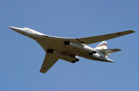 El bombardero estratégico Tu-160.