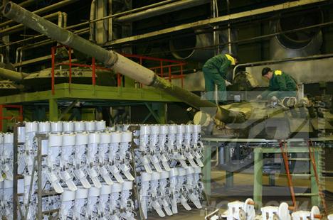 La planta de tanques T-80 en la ciudad de Omsk
