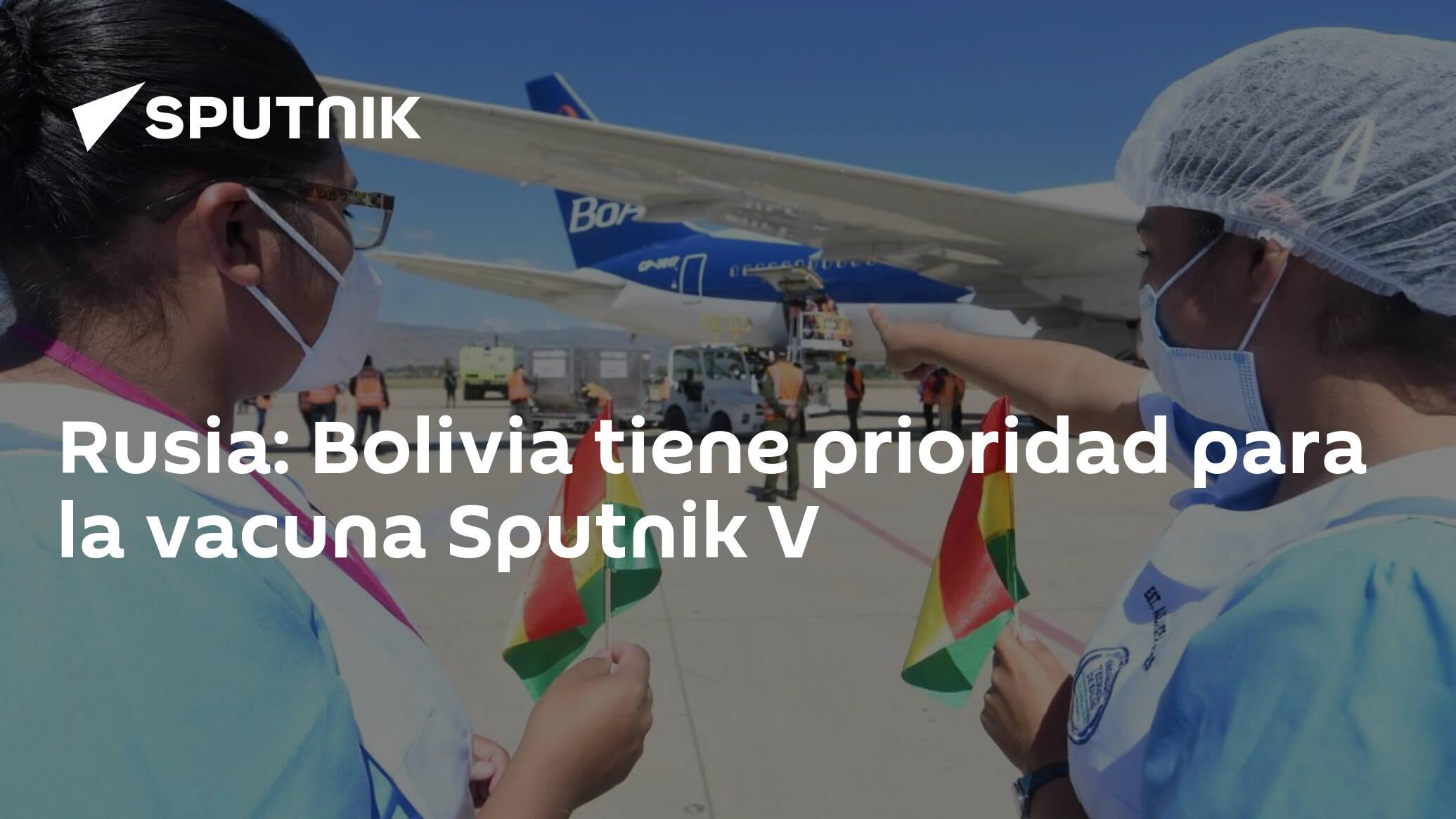 Image Rusia: Bolivia tiene prioridad para la vacuna Sputnik V