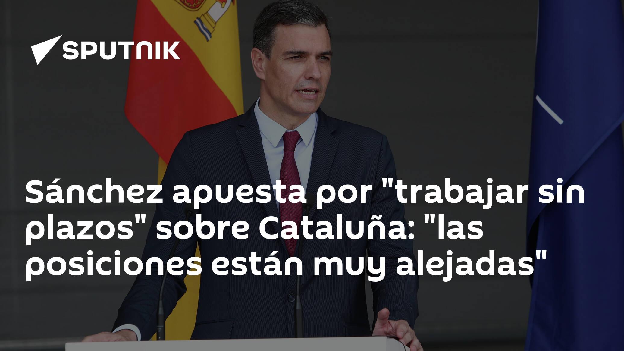 Comparecencia de Pedro Sánchez tras su reunión con el presidente de Cataluña