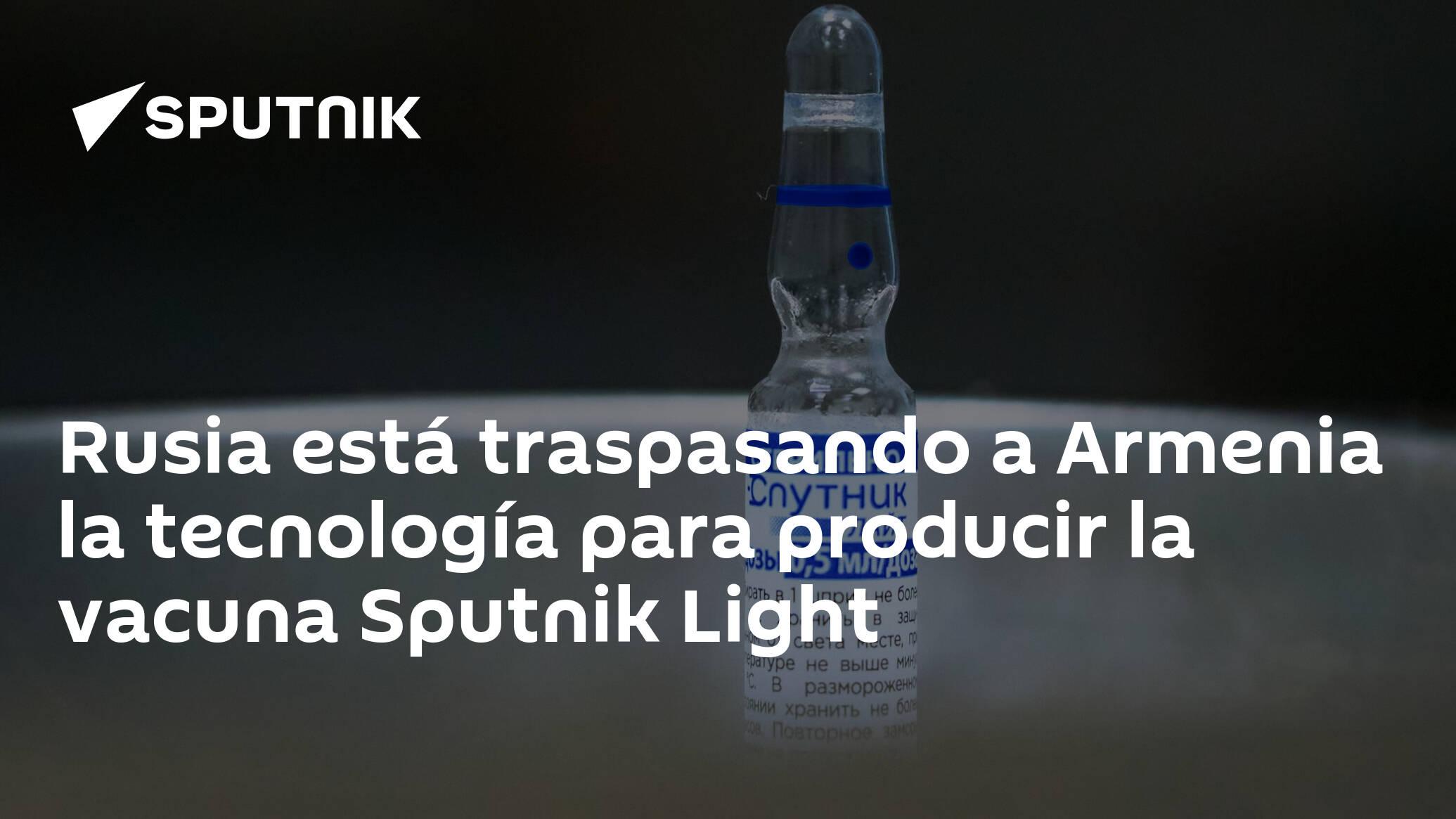 Image Rusia está traspasando a Armenia la tecnología para producir la vacuna Sputnik Light