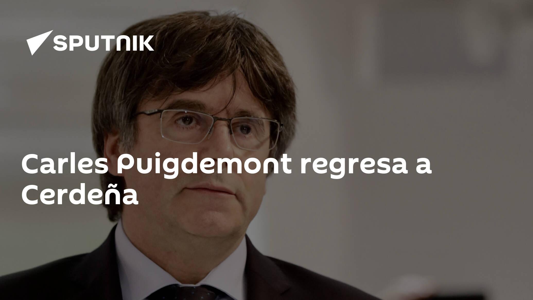 Carles Puigdemont regresa a Cerdeña