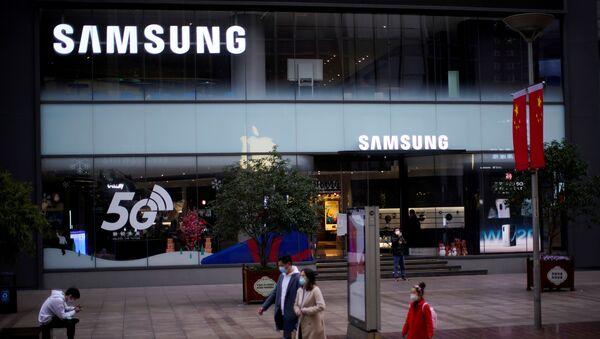 Una tiende de Samsung en China (archivo) - Sputnik Mundo