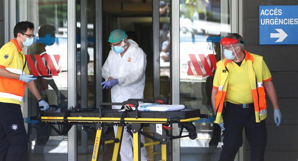 Entrada de emergencias del hospital Arnau de Vilanova. 4 de julio de 2020