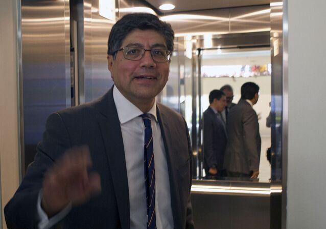 José Valencia, ministro de Relaciones Exteriores y Movilidad Humana de Ecuador