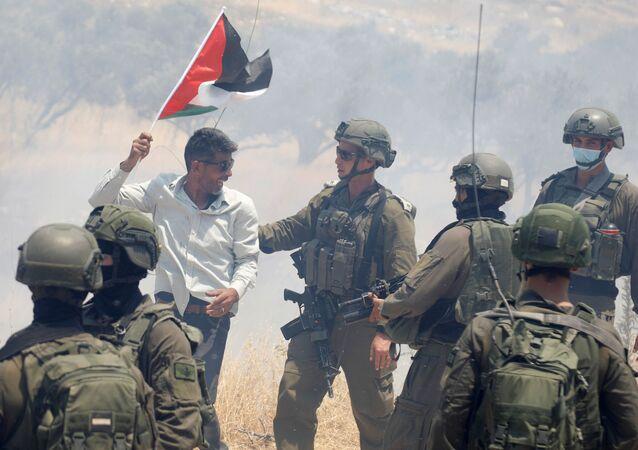 Protestas contra la anexión de Cisjordania por Israel (archivo)